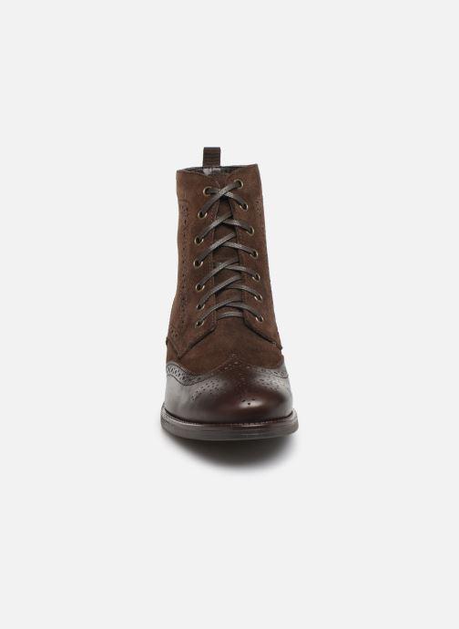 Bottines et boots Georgia Rose Alfa Marron vue portées chaussures