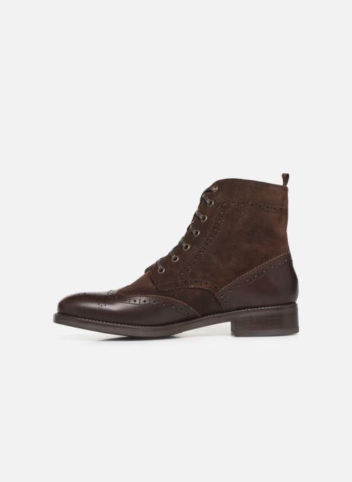 Bottines et boots Georgia Rose Alfa Marron vue face