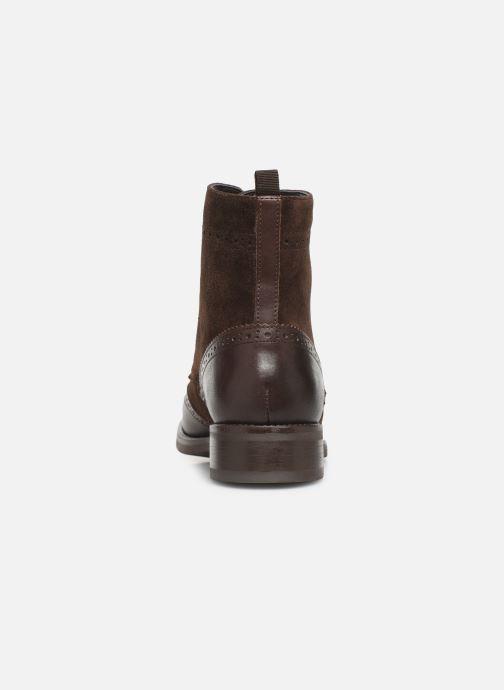 Bottines et boots Georgia Rose Alfa Marron vue droite