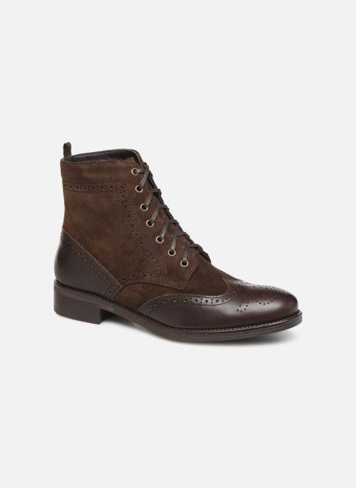 Bottines et boots Georgia Rose Alfa Marron vue détail/paire