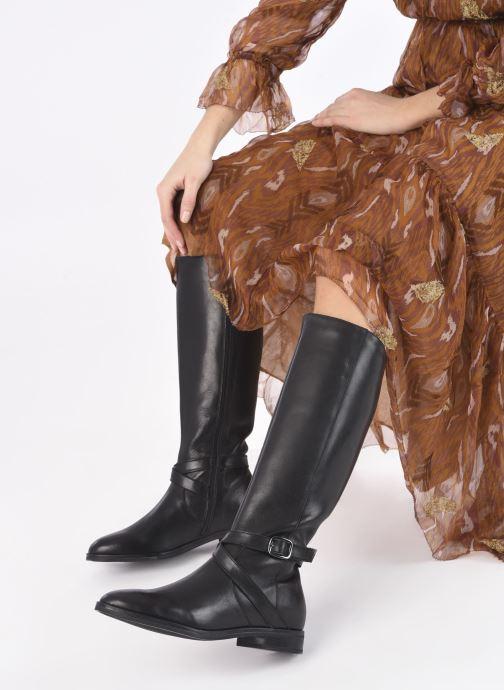 Stiefel Georgia Rose Rionna schwarz ansicht von unten / tasche getragen