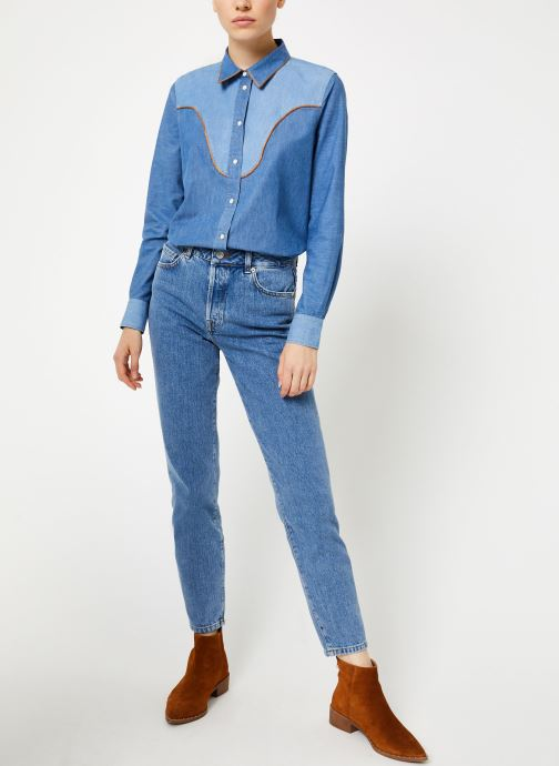 Vêtements Bensimon CHEMISE CLADY Bleu vue bas / vue portée sac