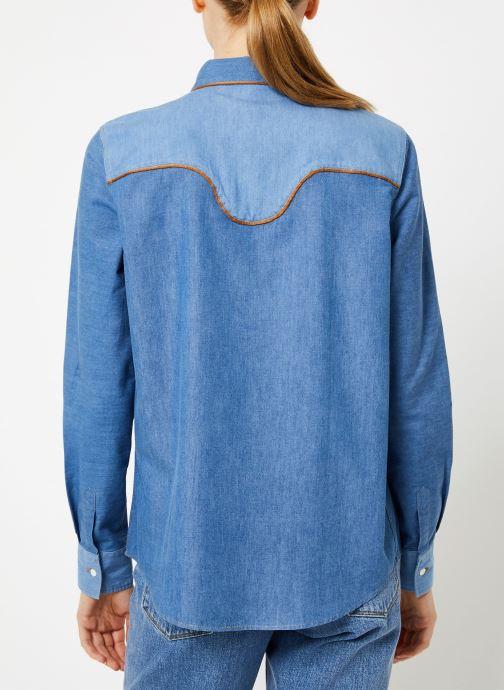 Vêtements Bensimon CHEMISE CLADY Bleu vue portées chaussures