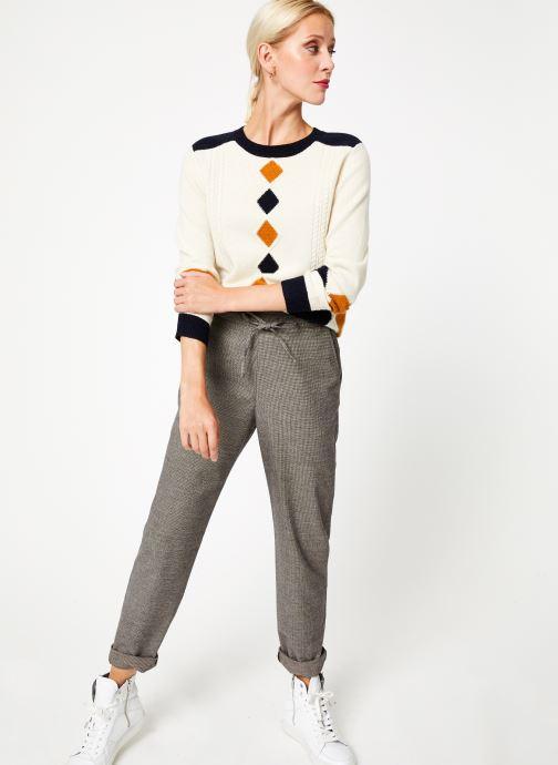 Vêtements Bensimon PULL CESARINE Blanc vue bas / vue portée sac