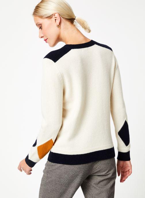 Vêtements Bensimon PULL CESARINE Blanc vue portées chaussures
