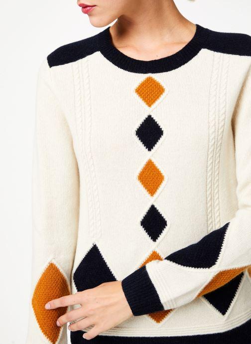 Vêtements Bensimon PULL CESARINE Blanc vue face