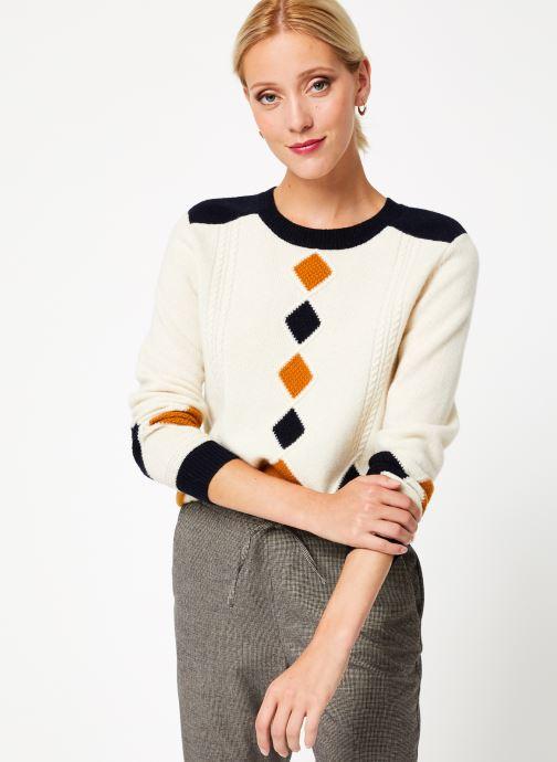 Vêtements Bensimon PULL CESARINE Blanc vue droite