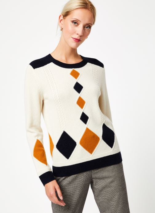 Vêtements Bensimon PULL CESARINE Blanc vue détail/paire