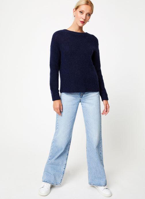 Vêtements Bensimon PULL CALIA Bleu vue bas / vue portée sac