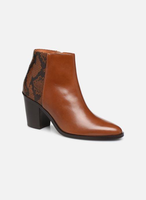 Ankelstøvler Georgia Rose Tobia Brun detaljeret billede af skoene