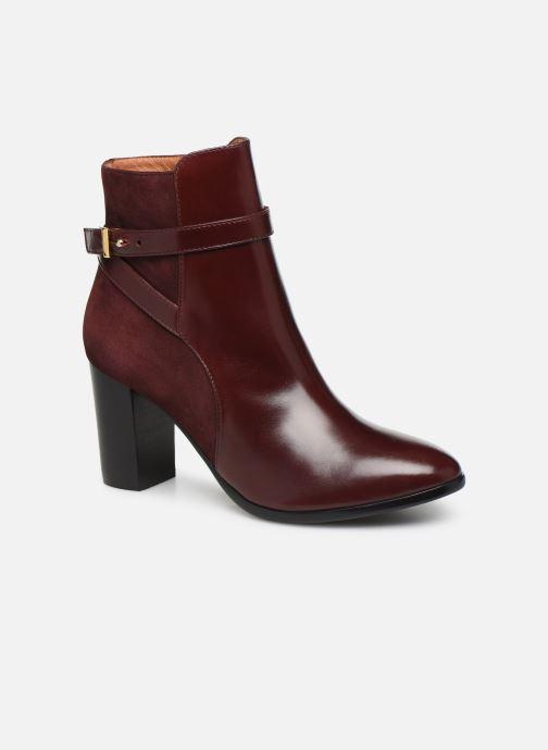Ankelstøvler Georgia Rose Tosca Bordeaux detaljeret billede af skoene