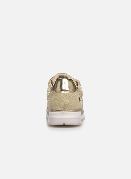 Baskets Xti 47792 Or et bronze vue droite