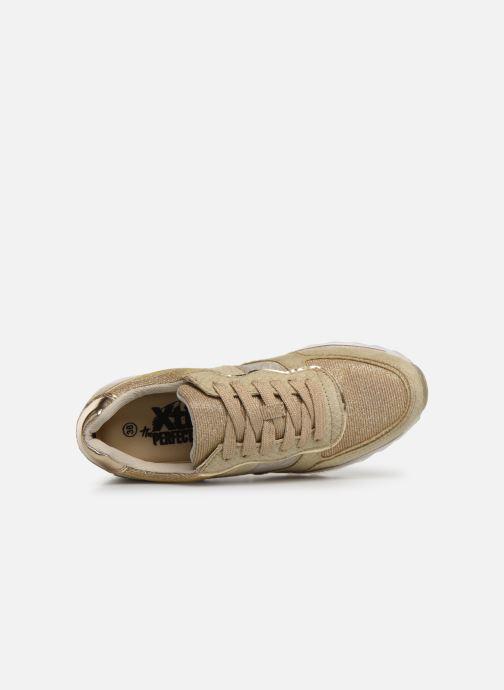 Baskets Xti 47792 Or et bronze vue gauche