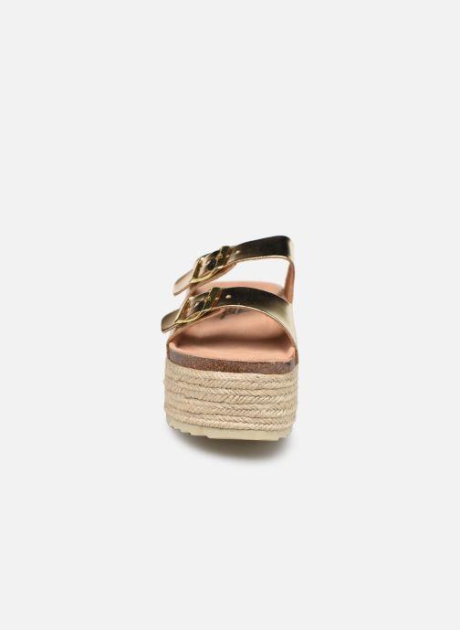 Espadrilles Xti 48119 Or et bronze vue portées chaussures