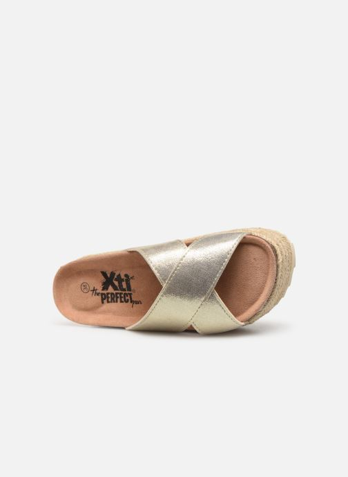 Espadrilles Xti 48122 Bronze and Gold view from the left