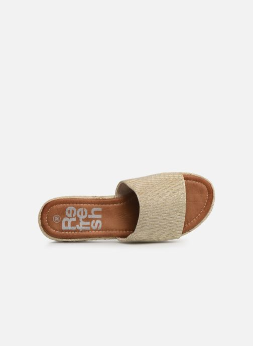 Espadrilles Xti 64449 Bronze and Gold view from the left
