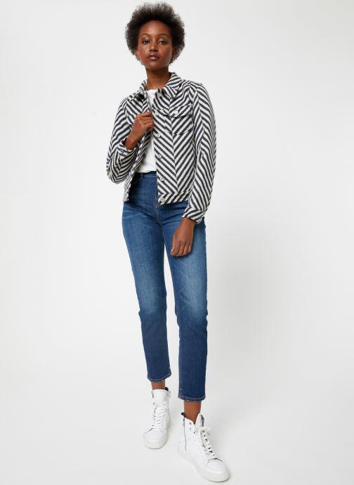 Vêtements Maison Scotch Brushed cotton trucker jacket Blanc vue bas / vue portée sac