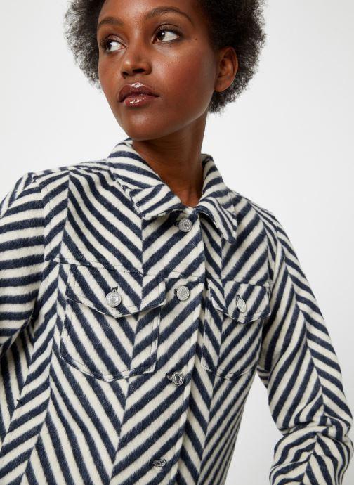 Vêtements Maison Scotch Brushed cotton trucker jacket Blanc vue face