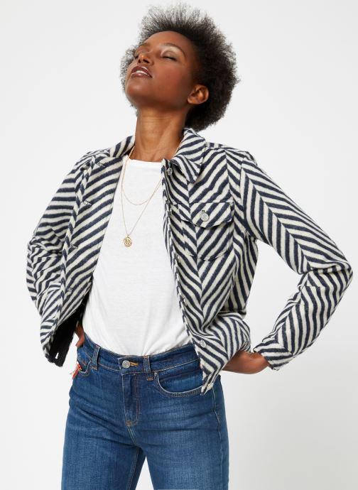 Vêtements Maison Scotch Brushed cotton trucker jacket Blanc vue droite