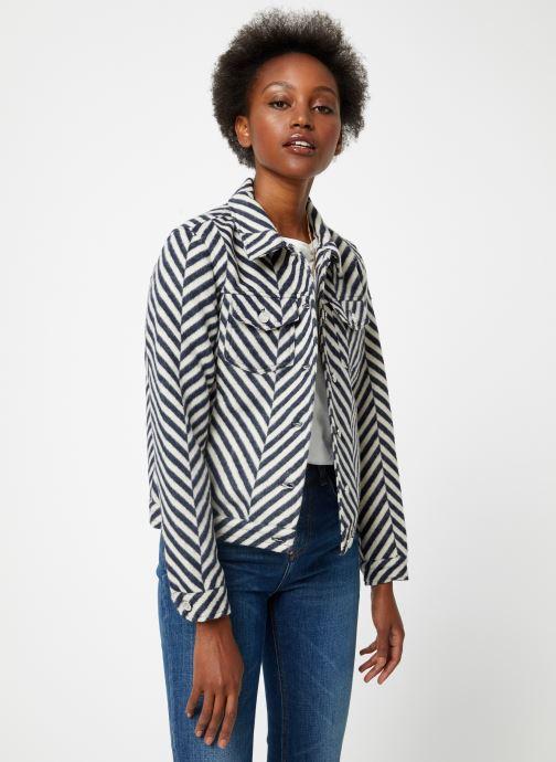 Vêtements Maison Scotch Brushed cotton trucker jacket Blanc vue détail/paire