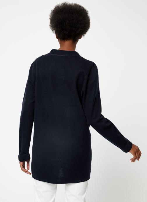 Vêtements Maison Scotch Knitted nautical blazer Bleu vue portées chaussures