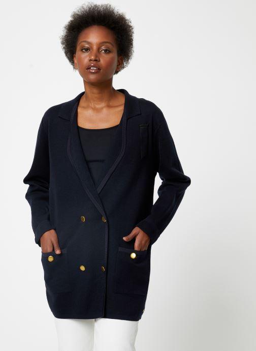 Vêtements Maison Scotch Knitted nautical blazer Bleu vue droite