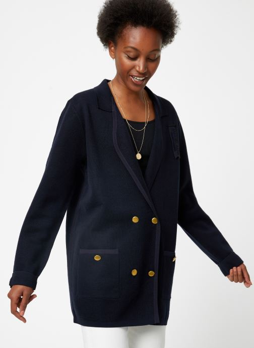 Vêtements Maison Scotch Knitted nautical blazer Bleu vue détail/paire