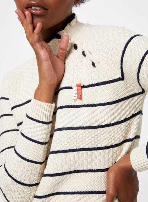 Vêtements Scotch & Soda Basic pull with button details Beige vue face