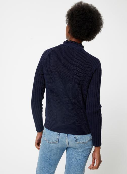 Vêtements Maison Scotch Basic pull with button details Bleu vue portées chaussures