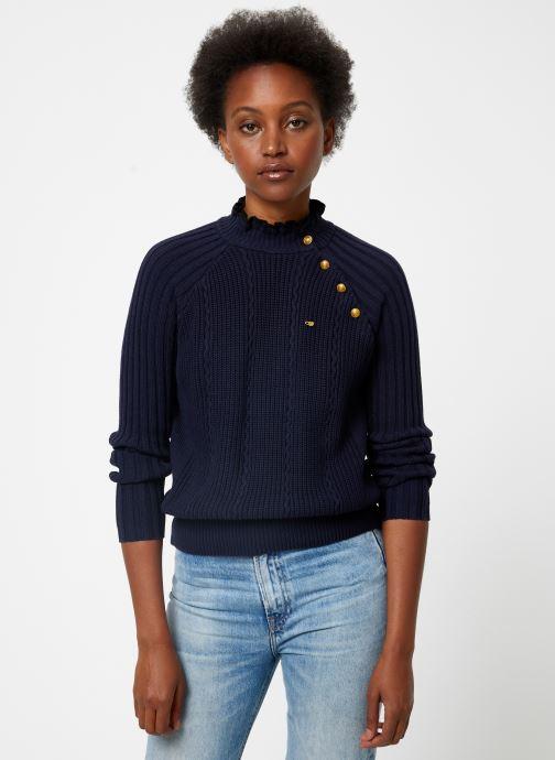 Vêtements Maison Scotch Basic pull with button details Bleu vue droite