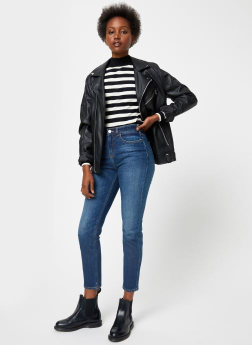 Vêtements Scotch & Soda Fitted rib knit with high neck Noir vue bas / vue portée sac