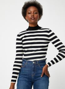 Fitted rib knit with high neck