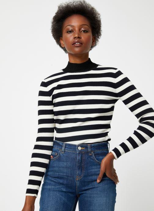 Vêtements Scotch & Soda Fitted rib knit with high neck Noir vue détail/paire