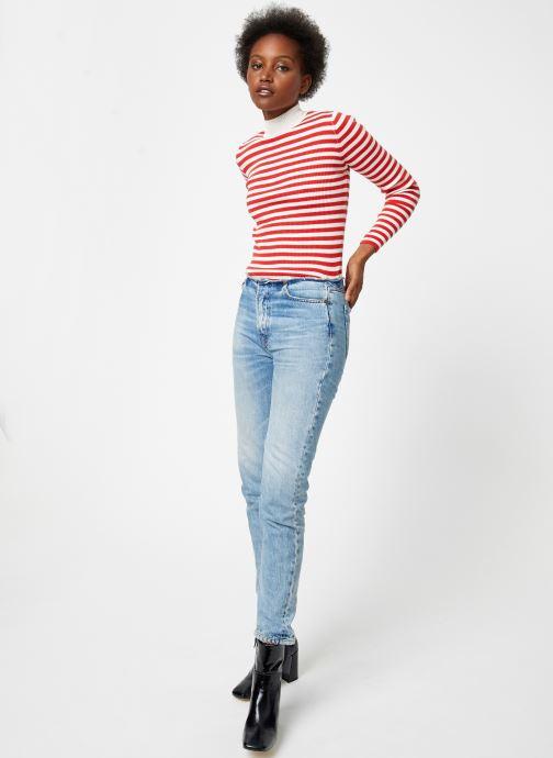 Vêtements Maison Scotch Fitted rib knit with high neck Rouge vue bas / vue portée sac