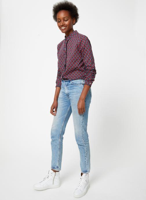 Vêtements Maison Scotch Classic long sleeve shirt with all over print Rouge vue bas / vue portée sac