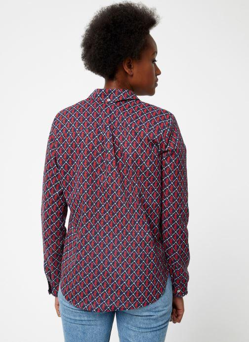 Vêtements Maison Scotch Classic long sleeve shirt with all over print Rouge vue portées chaussures