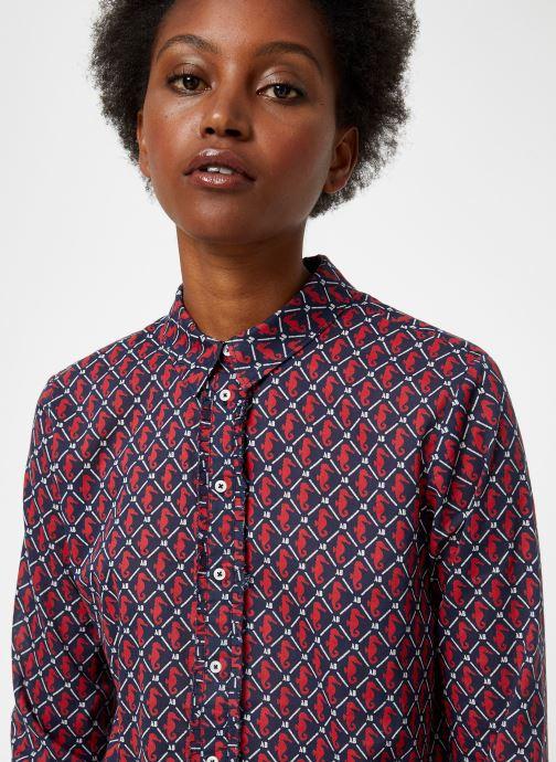 Vêtements Maison Scotch Classic long sleeve shirt with all over print Rouge vue face