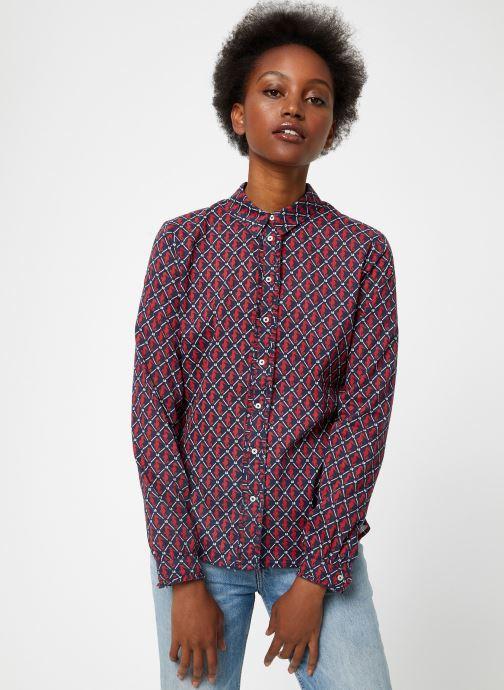 Vêtements Maison Scotch Classic long sleeve shirt with all over print Rouge vue droite