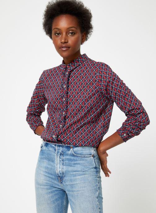 Vêtements Maison Scotch Classic long sleeve shirt with all over print Rouge vue détail/paire