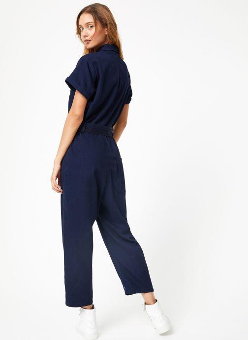 Vêtements Maison Scotch Lightweight indigo all - in - one Bleu vue portées chaussures