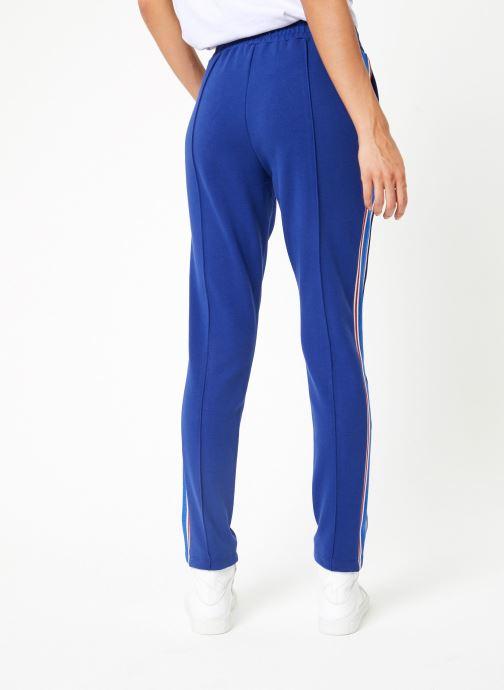 Vêtements Maison Scotch Colorful sweat pants with sporty ribs on the side Bleu vue portées chaussures