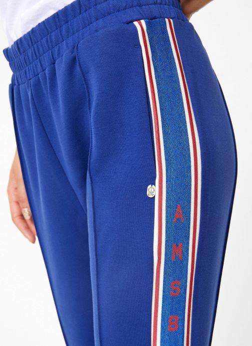 Vêtements Maison Scotch Colorful sweat pants with sporty ribs on the side Bleu vue face