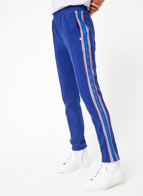Vêtements Scotch & Soda Colorful sweat pants with sporty ribs on the side Bleu vue détail/paire