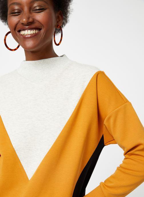 Vêtements Maison Scotch Color block sweat Noir vue face