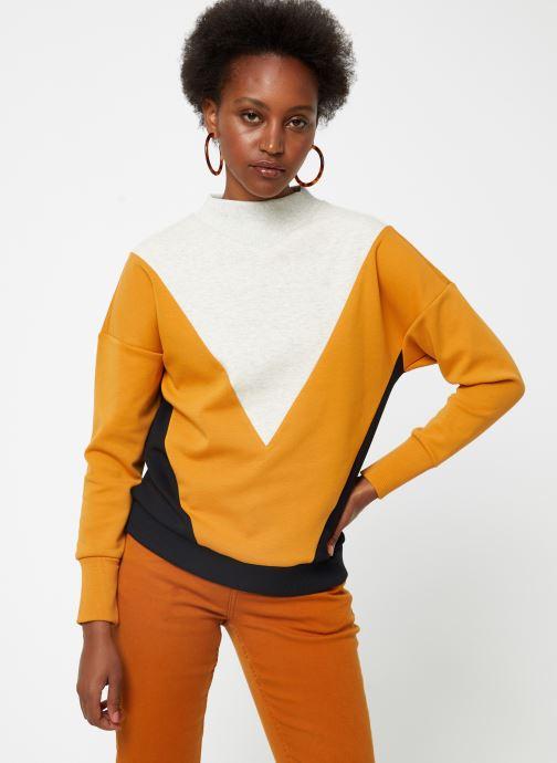 Vêtements Maison Scotch Color block sweat Noir vue droite