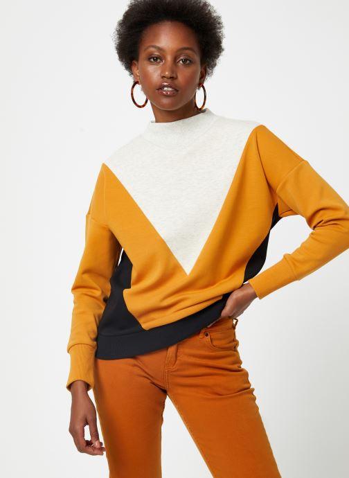 Vêtements Maison Scotch Color block sweat Noir vue détail/paire