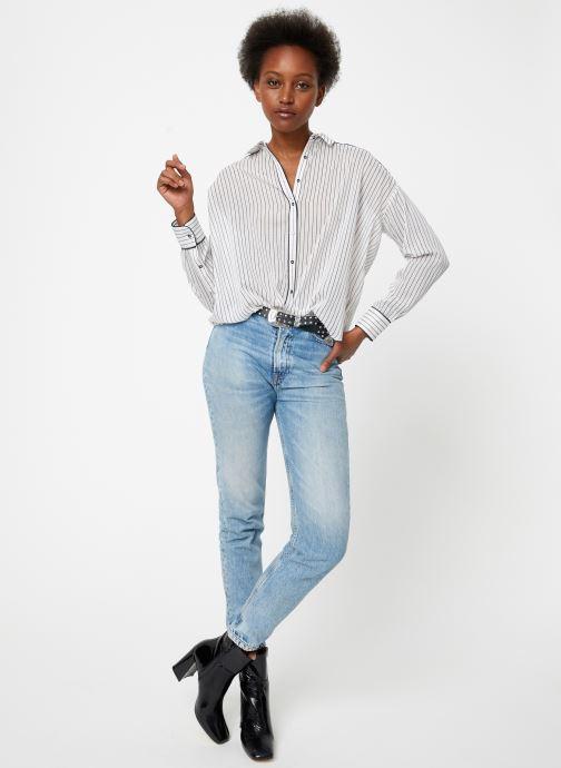 Vêtements Maison Scotch Boxy fit allover printed viscose mix shirt Beige vue bas / vue portée sac