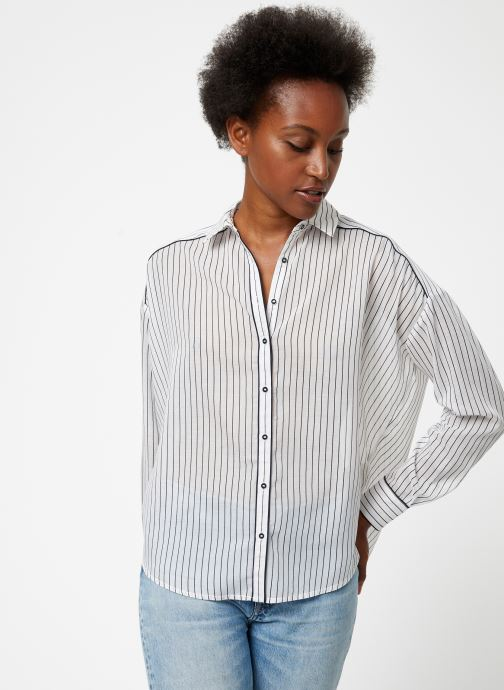 Vêtements Maison Scotch Boxy fit allover printed viscose mix shirt Beige vue droite