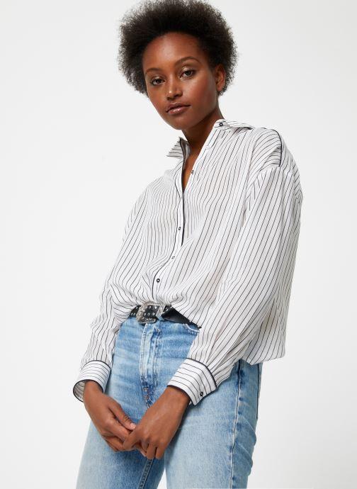 Vêtements Maison Scotch Boxy fit allover printed viscose mix shirt Beige vue détail/paire