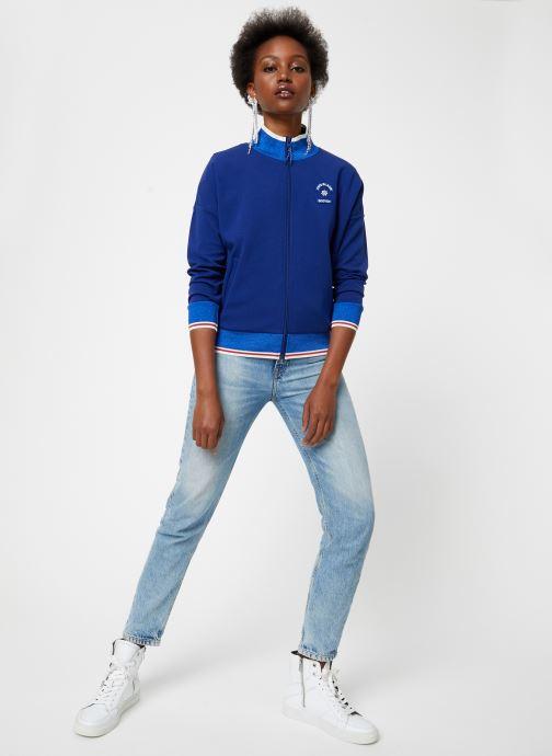 Vêtements Maison Scotch Sporty jacket in sweat quality Bleu vue bas / vue portée sac